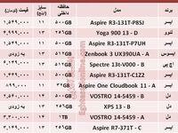 قیمت باریکترین لپتاپهای بازار +جدول