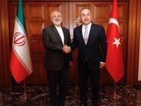 ظریف با وزیر امورخارجه ترکیه دیدار کرد