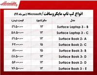 انواع لپتاپ مایکروسافت چند؟  +جدول