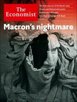 اعتراضات گسترده در فرانسه؛ روی جلد نشریه اکونومیست