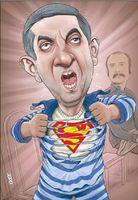 مشایی در حال پارهکردن پیراهنش! (کاریکاتور)