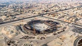 ساخت ورزشگاه برای جام جهانی قطر +فیلم