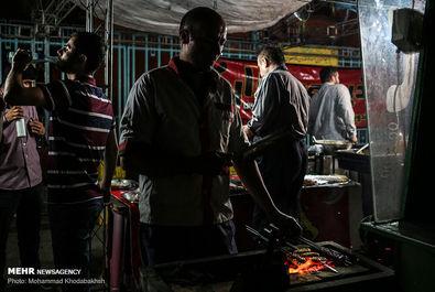 فلافل و جگر داغ در وعده افطار