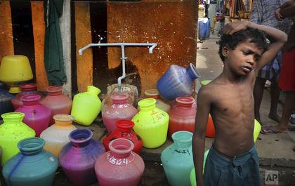 انتقال آب با قطار در هندوستان
