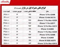قیمت گوشی اپل در بازار/ ۹اسفند۹۹