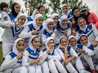 مهناز افشار تماشاگر ویژه لیگ فوتبال زنان +عکس