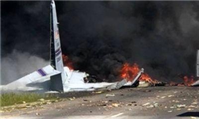 هواپیمای ترابری نظامی آمریکا سقوط کرد+عکس