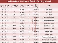 هزینه سفر به تفلیس در خردادماه۹۷ +جدول