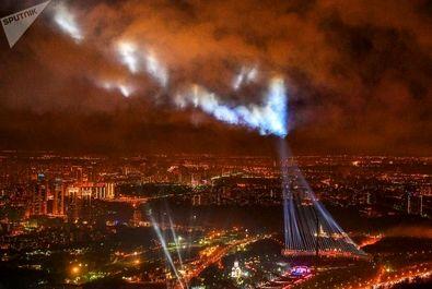 آتش بازی در آسمان مسکو