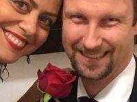 ازدواج خانم بازیگر با یک خارجی +عکس