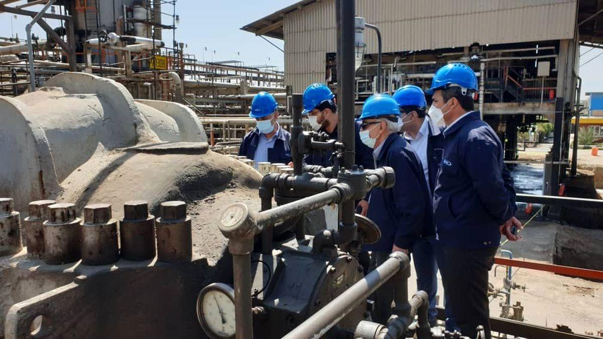 بازدید مدیر عامل شرکت نفت ایرانول از پروژه موم گیری پالایشگاه روغن سازی تهران