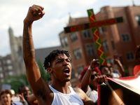 تظاهرات در آمریکا در اعتراض به قتل شهروند آمریکایی توسط پلیس +تصاویر