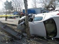 برخورد خودرو با تیر چراغ برق، ۲کشته داشت
