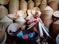 ساخت کلاه سنتی ویتنامیها عکس روز نشنال جئوگرافیک