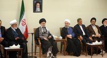 دیدار رهبر معظم انقلاب اسلامی با اعضای دولت