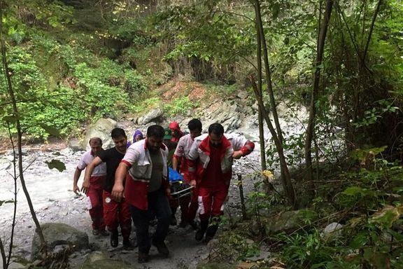 سقوط زن ۳۷ ساله از آبشار «لوار» بندرگز