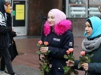 تشویق زنان به حجاب در اوکراین +تصاویر