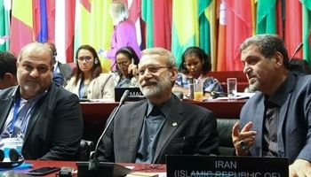 سخنرانی لاریجانی در نشست اتحادیه بین المجالس