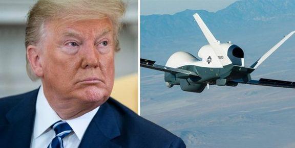 ترامپ: ایران پهپاد ما را خارج از حریم هوایی خودش ساقط کرد