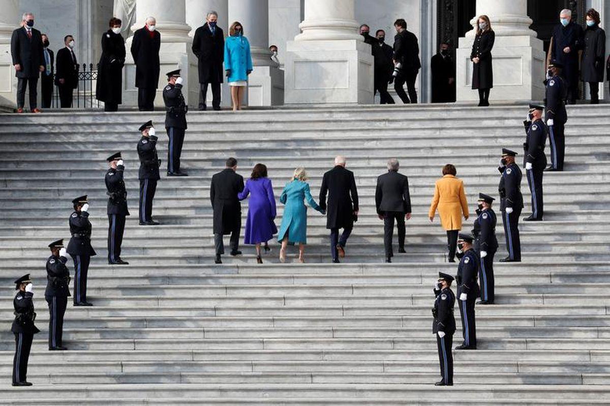 بایدن به کاخ سفید رسید