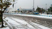 بارش برف در بندرانزلی +عکس