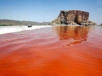 دریاچه ارومیه مجدد قرمز شد