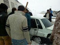 برخورد قطار شهری تهران-ورامین با خودروی پراید +عکس