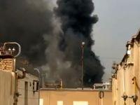 آتش سوزی در پالایشگاه آبادان +فیلم