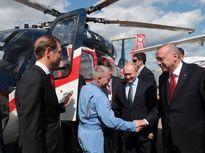 پوتین و اردوغان در نمایشگاه صنایع هوافضا +تصاویر