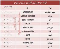 انواع بخاری گازسوز در بازار چند؟