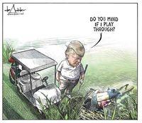 اخراج کاریکاتوریست مایکل داددر