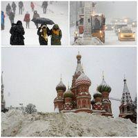 بارش سنگین برف رکورد ۶۸ساله مسکو را شکست +عکس