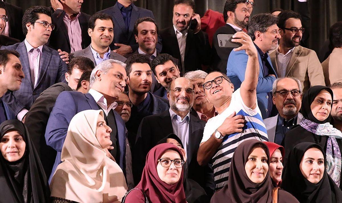 سلفی رامبد جوان و مهران مدیری با رییس صداوسیما +عکس