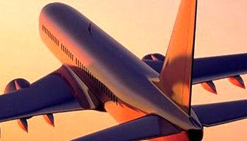 برخورد بال هواپیما با باند فرودگاه در ساری