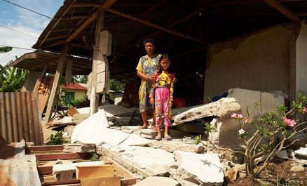زلزله زدگان اندونزی