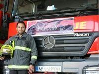 ماجرای فداکاری یک آتشنشان در دل سیلاب