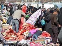 قرنطینه دستفروشان در بازار بیرونق