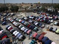 برپایی نماز جمعه خارج از مسجد الاقصی +عکس