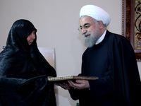 رییس جمهور به دیدار خانواده سردار همدانی رفت +عکس
