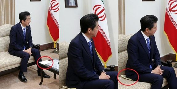 روایت تصویری از سرنوشت پیامی که آبه شینزو به ایران آورد