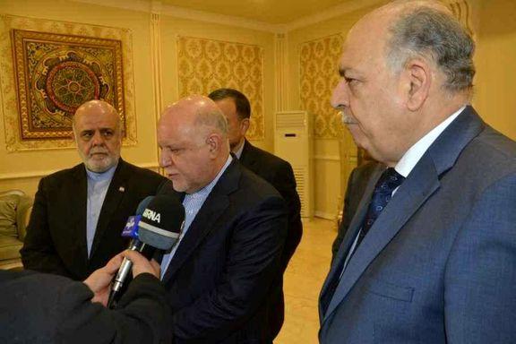 سفر وزیر نفت ایران به بغداد یک روز پس از دیدار پمپئو با مقامات عراقی/ سرمایهگذاری در میدانهای مشترک نفتی دو کشور
