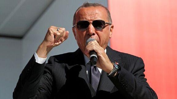 اردوغان: ترکیه در تلاش است تا آرامش به منطقه بازگردد
