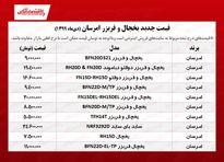 قیمت یخچال و فریزر امرسان +جدول