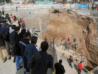پیکر ۲ کارگر حادثه متروی قم پیدا شد