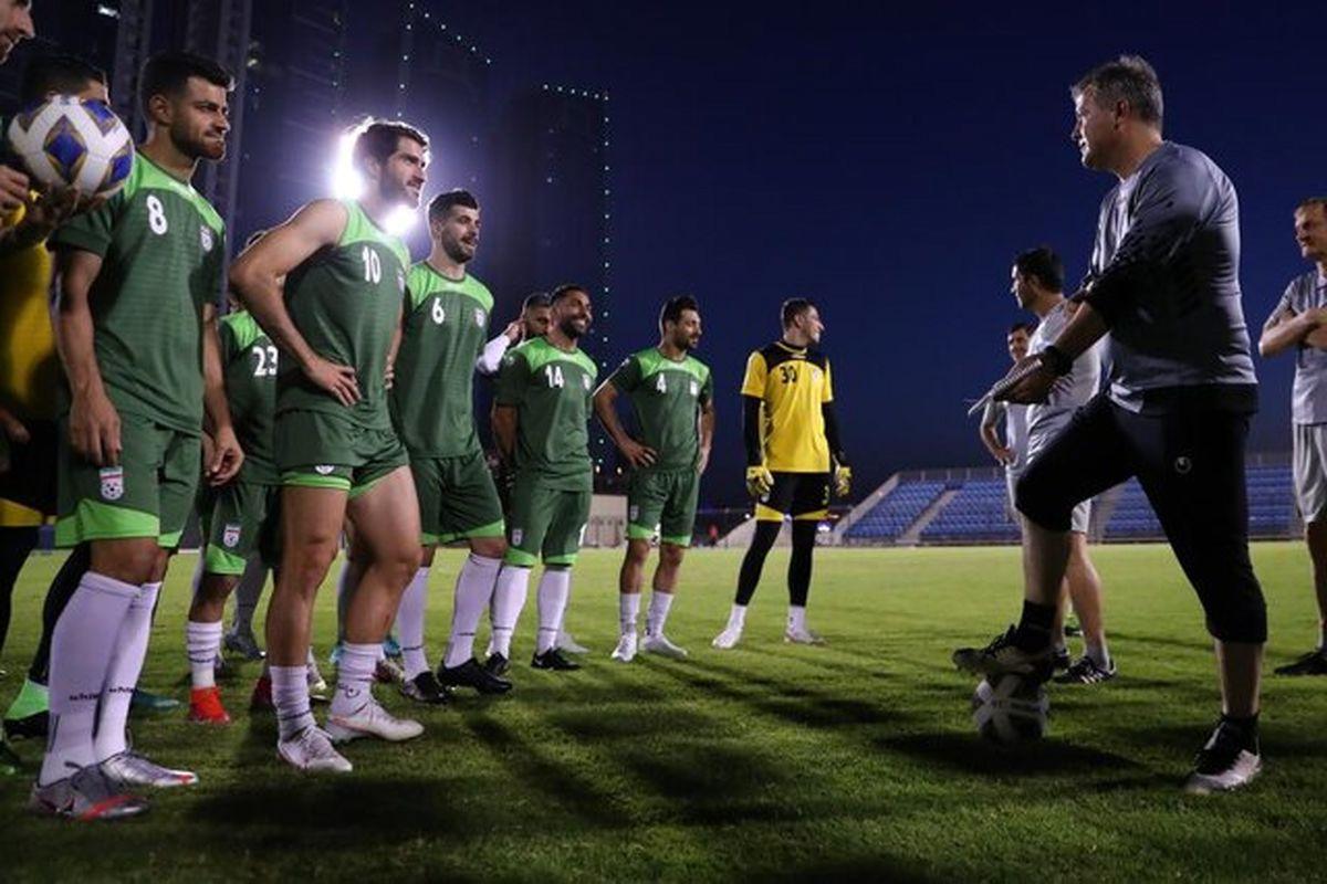 اولین تمرین تیم ملی فوتبال ایران در بحرین + عکس