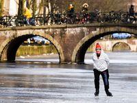 اسکیت روی یخ در آمستردام +تصاویر