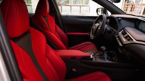2019-Lexus-UX-F-Sport-interior-flare-red-2