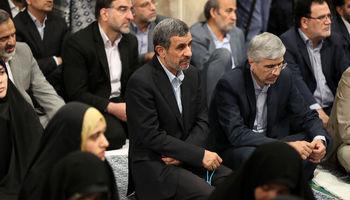 حضور احمدی نژاد در دیدار رمضانی مسئولان و رهبر انقلاب +تصاویر