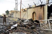 کنسولگری ایران در نجف یک روز پس از آتش سوزی