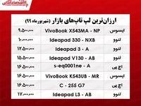 ارزان قیمتترین لپتاپهای بازار چند؟ +جدول
